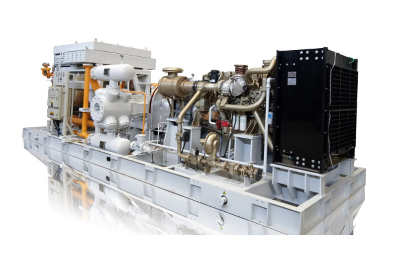 Концентрированная доставка природного газа/наддув